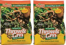 2 bags Evolved Harvest 70505 5 lb Throw & Gro Deer Plot No Till Forage Seed Mix