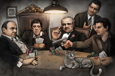 GANGSTERS PLAYING POKER - BIG CHRIS ART POSTER 24x36 - TV MOVIE 52164