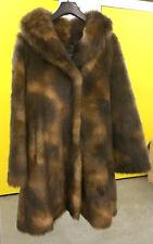 Mesdames Honey Brown sable synthétique faux manteau de fourrure NOUVEAU UK Made Taille UK 16 RRP £ 180