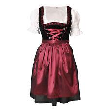 Dirndl 3 tlg.Trachtenkleid Kleid, Bluse, Schürze, Gr. 34-46 schwarz rot Samt