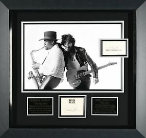 Bruce Springsteen & Clarrence Clemons Autographed Display