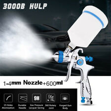 Gravity Feed HVLP Spray Gun Auto Car Paint 1.4mm Nozzle+600ml Pot Repair Kit