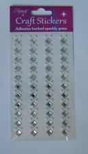 BEAUTIFUL DIAMANTE SQUARE DIAMONDS & PEARL EMBELLISHMENTS FOR CARDS AND CRAFTS