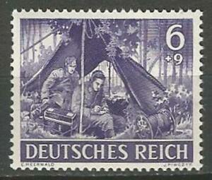Germany (Third Reich) 1943 MNH WWII Heroes Day Wireless Operators Mi-834 SG-822