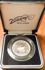 2000 Ireland £1 Silver Proof Piedfort, Millennium Commemorative Piedfort Coin
