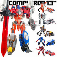 "Kids Toy Weijiang 5 in 1 Metal Robots Combiner Computron 13"" Action Figure Wars"