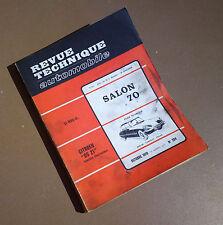 Revue RTA CITROEN DS21 livre de voiture ancienne book old car 1970