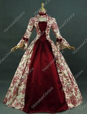 Renaissance Antique Floral Victorian Ball Gown Theater Halloween Costume 138