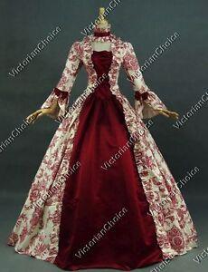 Renaissance Faire Antik Blumenmuster Vintage Kleid Brautjungfer Ball Theater 138