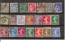 N°475-lot de 21 timbres France très anciens - différents - oblitérés- bon état