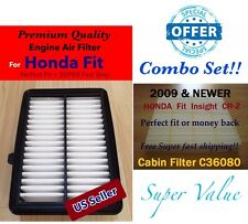 COMBO SET ENGINE&CABIN AIR FILTER For 2015 2016 HONDA FIT 172205R0008 US SELLER