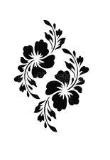 high detail airbrush stencil FLOWERS FREE UK POSTAGE