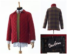 Mens BARBOUR Classic Eskdale Quilted Quilt Coat Jacket Red Size XS