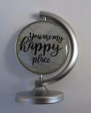 n You are my happy place YOU MEAN THE WORLD TO ME globe mini figurine ganz