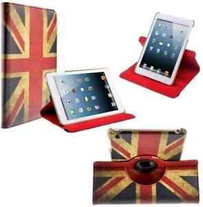 Union Flag Leather 360 Rotate Case Cover For Apple iPad 2/3/4 Air 1/2 Mini 1/2/3