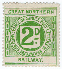 (I.B) Great Northern Railway : Letter Stamp 2d