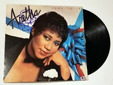 Aretha Franklin REAL hand SIGNED Jump To It vinyl BAS COA Autographed