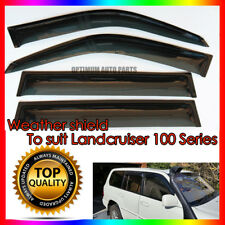 Weather shields Window Visors to suit Toyota Landcruiser 100 Series 1998-2007