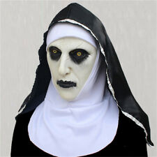 Closed Mouth Nun Halloween Female Grimace Halloween Theme Party Cosplay Prop HD