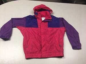 Columbia Vamoose Kids Color Block Vintage Ski Snowboard Coat Size Youth 18/20