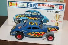 1960's AMT 1940 FORD COUPE 3 IN 1 MODEL CAR KIT BUILT with BOX TROPHY SERIES