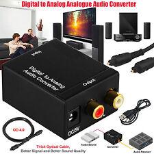 Optisch Coaxial Toslink Digital zu Analog Audio Konverter Adapter RCA L/R 3.5mm