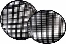 """New Pair 10"""" Speaker Grill Covers Subwoofer Box Metal Mesh Black Grille"""