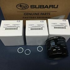 Genuine Subaru Engine Oil Filter & Crush Gasket (3 Pack) All 6 Cyl 15208AA031 oe