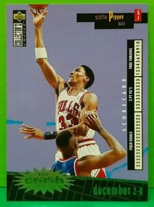Scottie Pippen insert card Crash The Game Gold 1996-97 Collector's Choice #C4