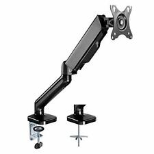 "AVLT Single 27"" Monitor Desk Mount Stand - Mount One Screen on Gas Spring Arms"