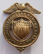 """WW1 """"National League For Womens Service"""" Bronze Badge - Dieges & Clust   Maker"""