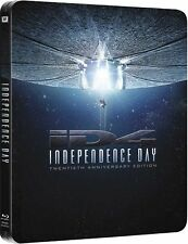 INDEPENDENCE DAY (Kinofassung + Extended Cut) 2 Blu-ray Discs, Steelbook NEU+OVP