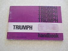 Original 1970s Triumph TR6 sports car owner's manual