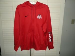 OHIO STATE NIKE THERMA FIT FULL ZIP HOODED JACKET  SIZE XL...NEW WITHOUT TAGS