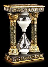 Ägyptische Sanduhr mit Ankh und Auge des Ra Symbolen - Deko Figur Uhr
