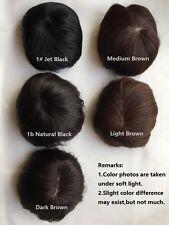 100% human hair  non-trace SILK TOP men wig toupee women wigs hairpiece clip in