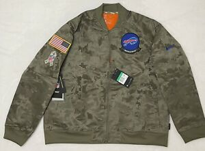 Women Nike NFL Buffalo Bills Salute Service Camo Jacket Bomber AT7863-222 Sz XL