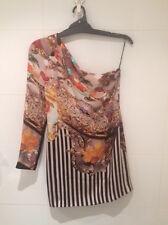 Mary Katrantzou RARE One Shoulder Snuffstrip Dress UK12 BNWT