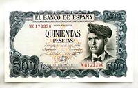 Spain-Billete. Jacinto Verdaguer, 500 Pesetas 1971. Madrid. Serie M. SC/UNC