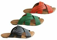 Brand New Orcade Carly Womens Comfortable Leather Slides Sandals Made In Brazil