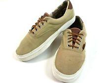 VANS ERA 59 Tan Leather White Cactus Lining Men's 8.5 Classic Canvas Skate Shoes