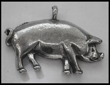 PEWTER CHARM #1106 PIG PIGGY (27mm x 19mm) 1 bail PENDANT