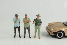 Figurine Figures Set 3 Piece Mann Senior Cool Weekend 1:24 American Diorama No