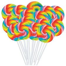 Mini Rainbow Swirl Lollipops (38) Wedding Candy Buffet Table Party Favors