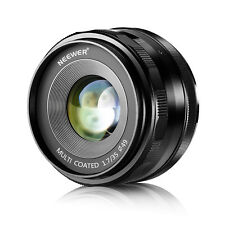 Neewer NW-E-35-1.7 35mm f/1.7 Manual Focus Prime Fixed Lens for Sony A6300 A6500
