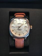 Shinola Watch Leather Band Mother of Pearl Face Limited Edition