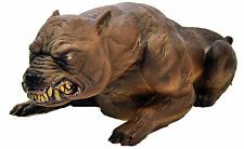 HALLOWEEN LIFE SIZE ANIMATED MAD DOG PIT BILL PROP DECORATION ANIMATRONIC