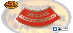 CAMARO NOVA IMPALA MONTE CARLO CHEVELLE EL CAMINO 305 TURBO-FIRE ENGINE DECAL