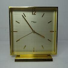mid century design clock 60s - Feine elegante Tischuhr ImHof Wecker Uhr ~ 60er