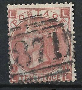 GB QV 1867 10d Brown/Red, LL, 871 Cancel, Weston Super Mare